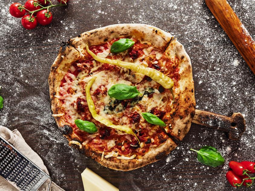 Bitang jó pepperonis pizza Edelrad sajttal